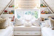 NOOKS / Seating nooks, reading nooks, closet nooks, under staircase  nooks, etc.
