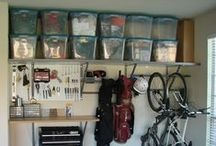 Everything Garages / Get the garage organized and designed to be a useful space instead of a catch all. Garage organization ideas, decorating the garage, genius ideas for the garage! / by Melissa @Serendipity and Spice