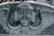 Early New England Gravestones / New England is OLD and we have great artwork on gravestones!