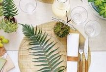 TABLE SETTINGS | DISHES / Table Settings, Tablescapes, and Beautiful Dishes