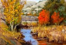 """The Creeks and Rivers of Silicon Valley / """"The Creeks and Rivers of Silicon Valley"""" is a one year quest  to do one painting each week of a different stream throughout the seasons, well, at least what mild seasons we have in Santa Clara Valley!   Each painting will be 8x10 oil on board.  - You can follow along with my weblog at: http://www.donaldneff.com/blog/ - Painting locations: https://mapsengine.google.com/map/edit?mid=z_jyqfO8Eo2I.kQOAJUo5NEMQ"""