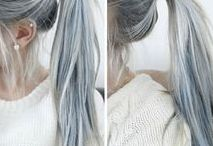 Granny Hair / Young women around the world have gotten fed up with how good older silver vixens can sometimes look with their gray hair and have started dying their hair gray as well. WELCOME TO REVOLUTION!!!