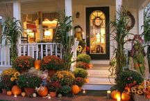 Fall Porches ~ Yard / by ⚓ Melody Gause