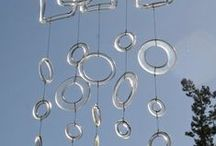 Mobile, wind chimes / #mobile, #wind chimes, # wind music / by Katerina Dickin