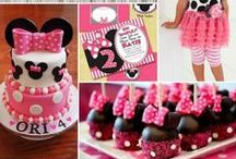 Minnie Mouse Birthday Party Ideas / Minnie Mouse Party Ideas such as Cakes, Decorations, Themes, And we offer Matching Birthday Clothing!