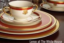 White House China Inspiration / Lenox has created White House China for many administrations. Find inspiration for elegant, classic table settings and dinnerware here.