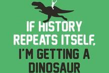 Funny Dinosaur Shirts / Let these awesome, funny dinosaur t-shirts do the talking for you.
