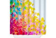 Ebi Emporium Shower Curtains / Do you love fancy, unique, stylish home decor that bring bold color and whimsy into your house? Is your bathroom decor in need of a serious style upgrade? If so, Ebi Emporium show curtains are just the trick to bring fine art to your home decor, and make your house something truly special :) #bathroom #decor #homedecor #decorative #shower #curtains #showercurtain #interiors #style #decoration #colorful #art