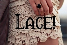 "Lacey Inspirations / ""Lace is as much about the space between the threads as it is about the threads themselves."" 