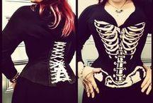 Corsets: Skeleton Motif Corsets