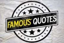 Famous Quotes / Enjoy a wide selection of famous quotes and sayings that were spoken from famous people! ☮   Let these words of great minds inspire you and help you to achieve your goals and live a fulfilling life.  If you want to share your pins here ask me for an invite. (Follow me http://pinterest.com/romeotees & comment on one of my pins ✔) ⇨ Spammers will be blocked / by Romeotees