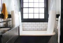 Bathroom / Bright colour splashes, monochrome, greys & small spaces