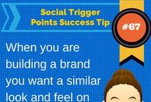 "Social Trigger Points Success Tips / Offering ""Daily Doses"" of Social Trigger Points Success Tips.  These are the friendly reminders for social media mangers and business owners of the habits and tasks to implement for your social media success!"
