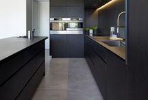 Cocinas negras y grises