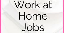 Work From Home / work at home jobs, make money online, work online, work at home, side hustle, business, small business, start a business, grow a business