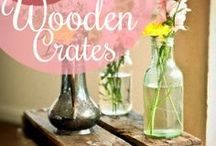 Wooden Crates / Wooden Crate Ideas / by Artemis Apollo