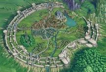 World of Lura / Locations for the saga about the kingdom of Thapir. Inspirational material #WorldCreation