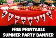 Summer Themed Parties / Summer Themed Parties. Outdoor Summer Party Themes. Summer BBQ Ideas. Summer Celebrations. Summer Grilling Party Foods. Summer is the time to party!