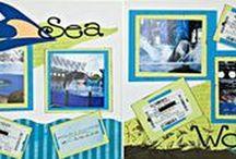 Disney & Seaworld Scrapbook Layouts / My favorite Disney scrapbooking layouts and SeaWorld scrapbooking layouts. Disney and SeaWorld Scrapbook Inspirations. SeaWorld and Disney Scrapbook Tutorials.