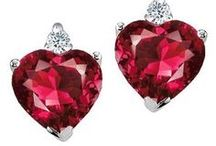 Ruby Don't Take Your ♥ 2 Town / Proverbs 31:10 - Who can find a virtuous woman? for her price is far above rubies. /  I ♥ rubies. My wedding set is made from rubies, and diamonds (also, a previous engagement ring that I still have... LOL) I have many pieces of jewelry with rubies, including my Mom's marquise cut ring, which I wear on my right hand, everyday. I prefer classic designs, and I like my collection to be of various cuts. If you take a ruby in for repair, NEVER let them use HEAT next to the ruby. It darkens the color. / by ✿Biℓℓie Gℓor