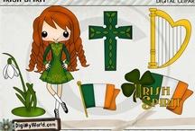 St Patricks Day Clipart & Digital Stamps