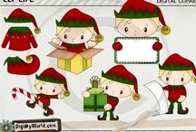 Christmas Clip art & Digital stamps