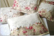 Tears On My Pillow ♪♪ / I decorate a lot with pillows. I have A LOT of them. I ♥ the lacy, embroidered ones, the best... and, of course, the ones with pink roses.  / by ✿Biℓℓie Gℓor