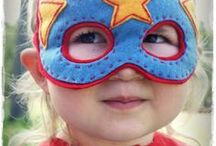 Super Hero Kids Gear / If your kids are anything like mine you'll know super heroes are the coolest thing on the planet! They want to play with the action figures, dress up like their favorite character, watch all the cartoons…and totally trick out their room in them!
