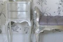 French Silver Furniture / French silver furniture allows you to add a touch of French glamour to your home!  / by Beau Decor