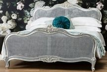 Frank Hudson Alexandria Range / Handcrafted curves create this glamorous Frank Hudson Alexandria range finished in a beautiful silver leaf. The range features a stunning collection of French glamour inspired bedroom pieces.