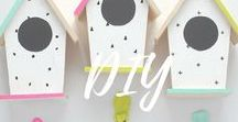 DIY / A collection of different inpirations for crafty makers with tutorials and creative ideas.  Use different tecniques such as painting, stamping, sewing, waving and much more!!