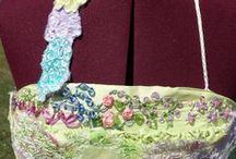 My Hand-Stitching & Sewing / Silk ribbon embroidery, hand-sewn, knit, needle felt