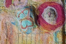 My Art Journal / Visual art journaling; mixed media art; journey, felted, felted journal covers, needlefelt, needlefelt bookcovers