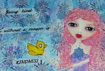 My Whimsy Characters / Characters With Meaning, Whimsy, Mixed-Media Art,