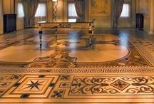 Wood Flooring Laser Inlays