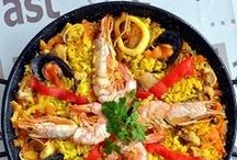 Cocina Española / I miss my grandmother and mother's cooking........Spain has such a great gastronomical variety through our all the regions. But we all enjoy a nice plate of paella with sangria!                .......Cada vez que voy a España me vuelvo con unos kilitos de mas!