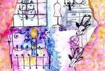 My Illustrations Begin Simply / sketch, illustration, children, storybook, fairy tales, child like, begin sketching