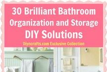 DIY Bathrooms Renovation Ideas / Spruce up your Bathroom with these DIY Renovation Ideas and Tips and before and after photos.