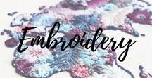 Embroidery / The art of embroidery in its different shapes on a variety of textile surfaces