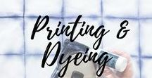 Printing & Dyeing / Tutorials, examples, techniques about DIY printing and dyeing fabrics and pieces of clothes