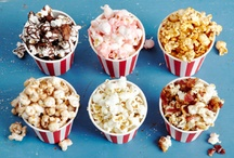 Food: POPCORN!! / I LOVE popcorn - buttered, seasoned, sweet; pan, air, microwave.  Not really particular. Just like the stuff.