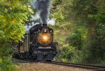 Chug a Chug A Choo Choo... / Trains and train tracks.. / by Robin DeLong-Makin