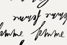 Hand Lettered Type / Wonderfully hand-drawn letters, with pens, graphite or brushes, illustrated words, phrases and various examples of calligraphy, modern and classic.