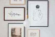Styled | Walls / Wall galleries, how to style your framed art and photos, shelving, vignettes, plants and ceramics. Bookcases, hanging space and storage.