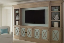 Media rooms and TV built-ins / The television; c'mon its a reality, its in just about every home, so how do we deal with it creatively? Some choose to disguise it, others just integrate it into built-ins. Here are some good examples of both. / by Julie Williams