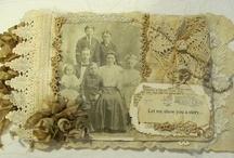 Fabric Books / Inspiration for a white/off white fabric scrapbook with vintage family photographs. / by Nancy Lewis