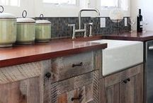 Kitchens-rustic, country / by Julie Williams