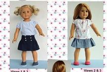 Shop for American Girl Doll Clothes Sewing Patterns / Sewing patterns: Clothing for 18 inch dolls,  Bitty Baby, Bitty Twin, and Waldorf Dolls
