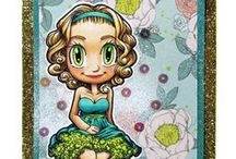 Gwen - Some Odd Girl / Cards & crafts using Gwen digital and clear stamps by Some Odd Girl.