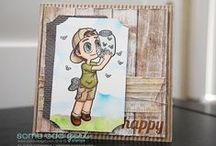 Tobie - Some Odd Girl / Cards, tags, and other crafts using Tobie digital and clear stamps by Some Odd Girl.